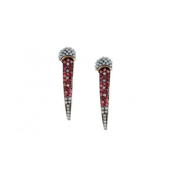 Vintage Bijoux Preziosi Spike Earrings via Polyvore featuring jewelry, earrings, vintage jewellery, earring jewelry, vintage jewelry, vintage earrings и spike earring