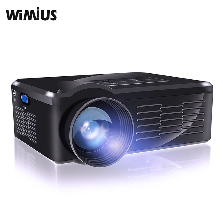 Wimius BL-35 Mini Portable LED Projector Support 1920*1080 LCD HD TV Video Home Theater Proyector Beamer Projetors USB/HDMI/TV #Affiliate