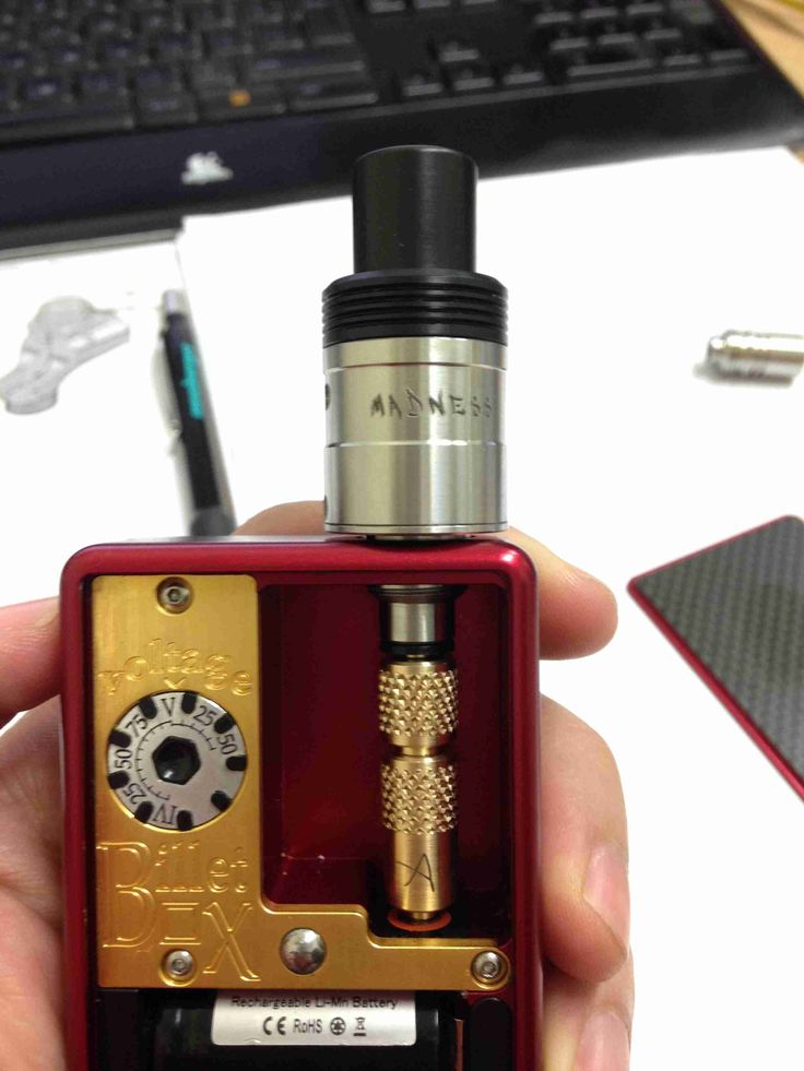 The 510 adaptor for BilletBox is almost ready with Brass adjustable positive pole and SS hybrid negative pole In the photo with our Madness RDA