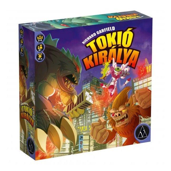 Tokió királya (King of Tokyo) magyar kiadás - stratégiai társasjáték 8 éves kortól - Delta Vision