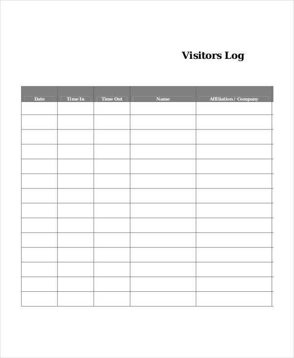 Log Book Templates 16+ Free Printable Word, Excel  PDF log