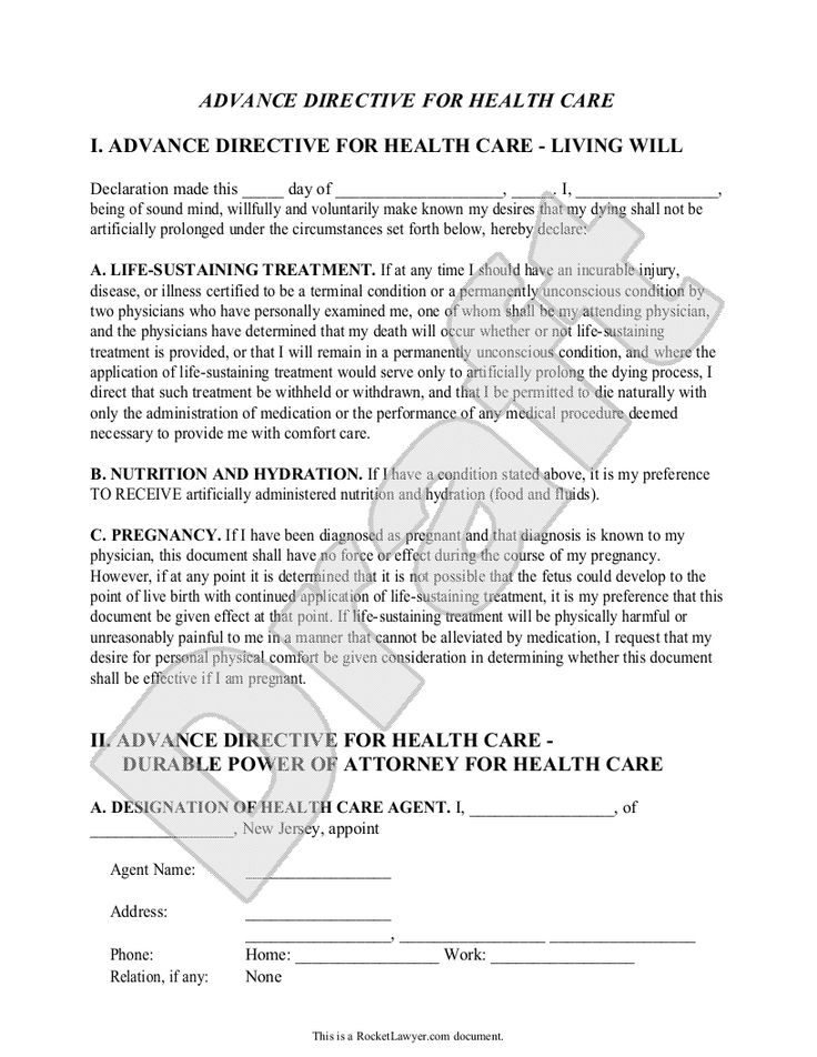 Doc612792 Sample Advance Directive Form Sample Advance – Sample Living Will Template