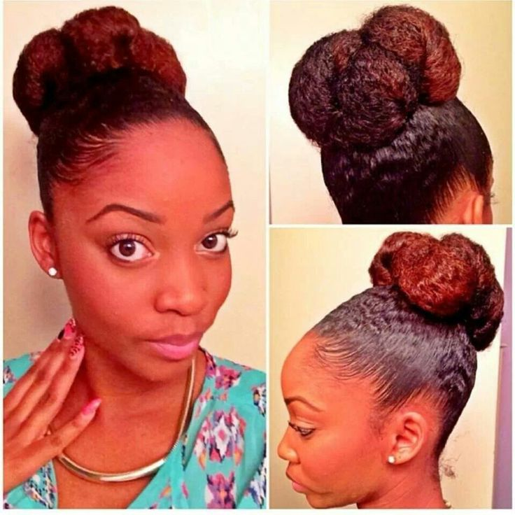 Love the color, the style and her natural hair texture.