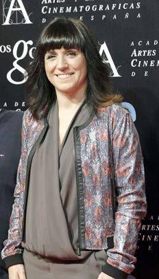 Gala Nominados a los Goya 2014: ¡La Vicepresidenta de la Academia de Cine Español Judith Colell luciendo chaqueta Custo Barcelona!  Goya Nominees Party 2014: Spanish Film Academy Vice President Judith Colell wearing Custo Barcelona's jacket!