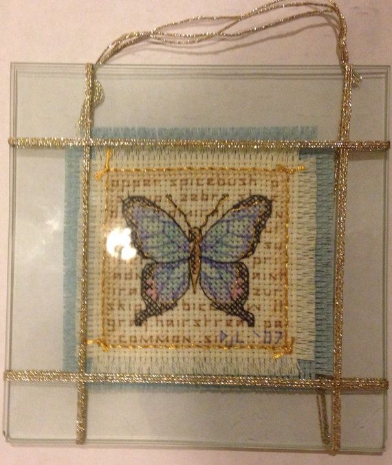 Completed Cross Stitching Glass Natural Beauty by dannileifer, $24.99