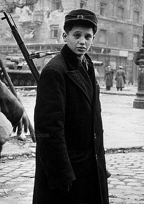Boy soldier of the Hungarian revolt