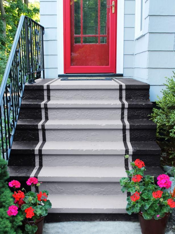 HGTV Magazine Has The Tips And Tricks You Need To Know To Properly Paint Concrete  Steps