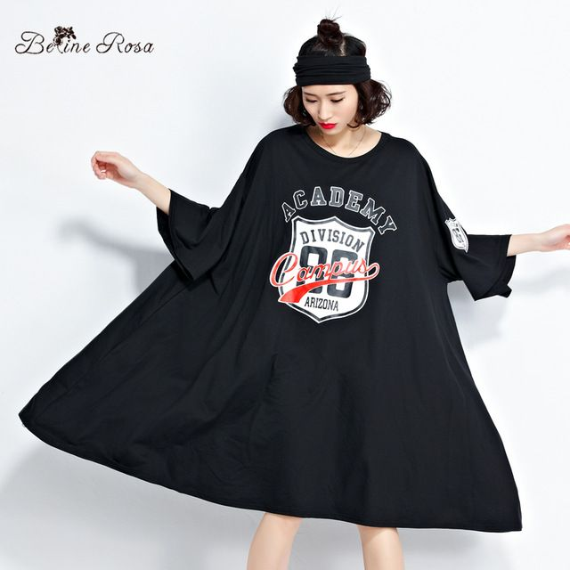 $21.43  ONE SIZE  BLACK  Belininosa 2017 plus size women's clothing fashion batwing t shirt glove tunic tyw0262 on Women's Dresses Clothing & Accessories at AliExpress.com   Alibaba Group