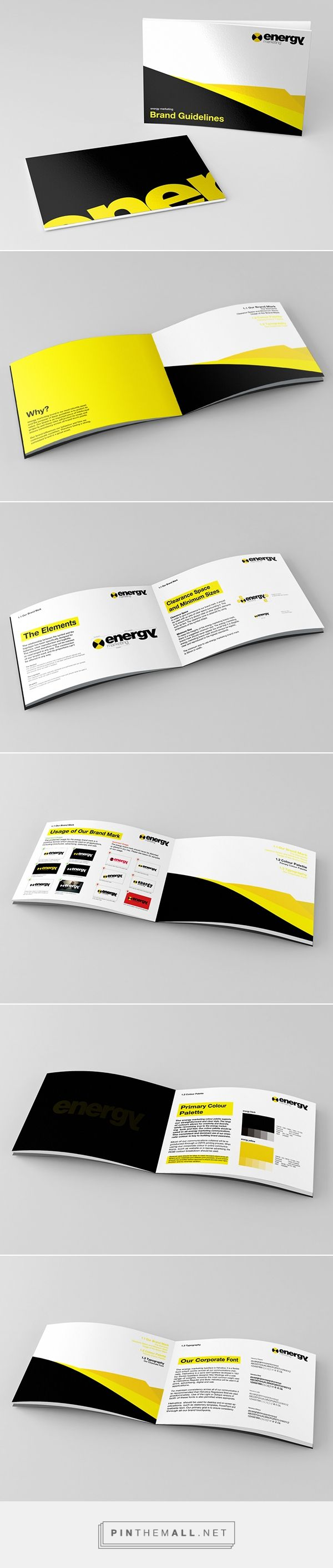 Manual de Identidad Corporativa (maquetación): Energy Marketing Branding by Lukasz KuIakowski