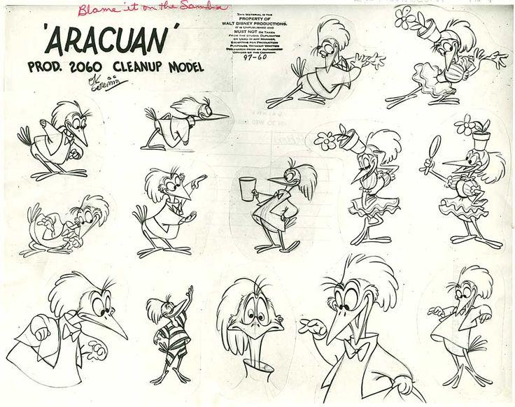 Aracuan - DisneyModelsheet Cartoons, Character Design References, Tutorials Conceptart, Animal Art, Models Sheet, Concept Art, 1000791, Aracuan Models, Conceptart Modelsheet