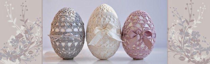 Relasé: Pasqua: decorazioni Fai da Te - uova all'uncinetto. Schema