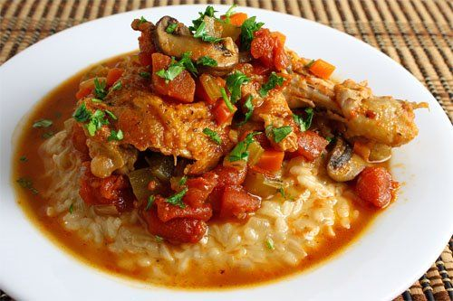 slow cooker Chicken Cacciatore (Hunter Style Chicken) #slowcooker #crockpot
