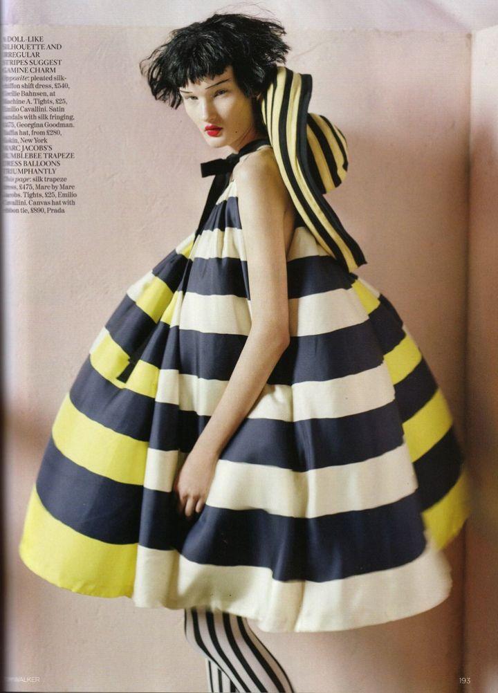 """The Right Lines"" | Model: Kirsi Pyrhonen, Photograph by Tim Walker, Vogue UK, April 2011"