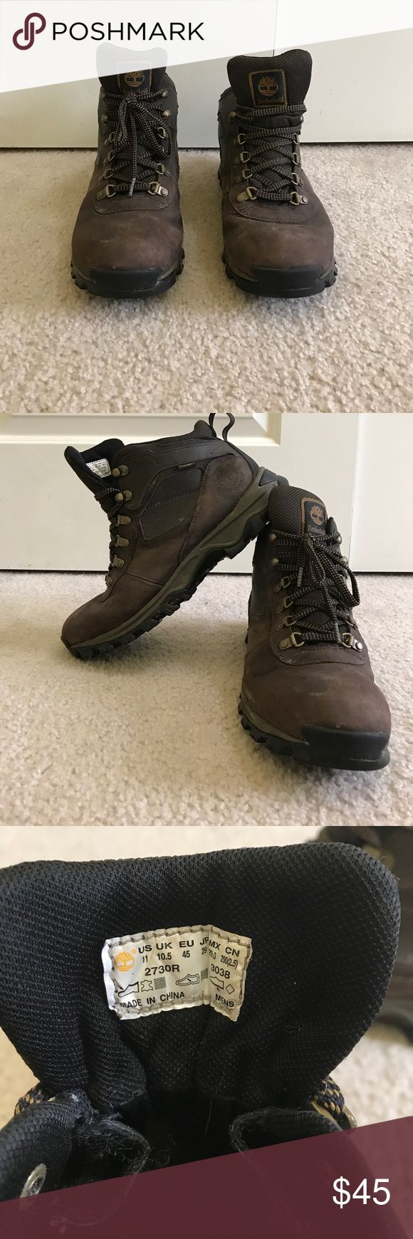 Timberland Men's Hiking Boots Timberland men's size 11 waterproof hiking boots. Incredible for hiking. Worn on one 4 day hiking trip. Very insulating. Great hiking shoes very comfortable. Timberland Shoes Boots