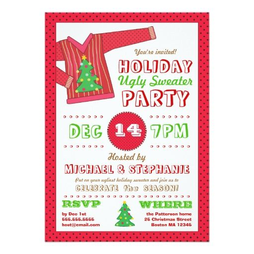 Best Christmas Party Invitations Images On