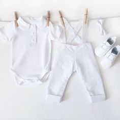 4 Piece Baby Boy Christening Outfit Baptism Outfit by mabelretro
