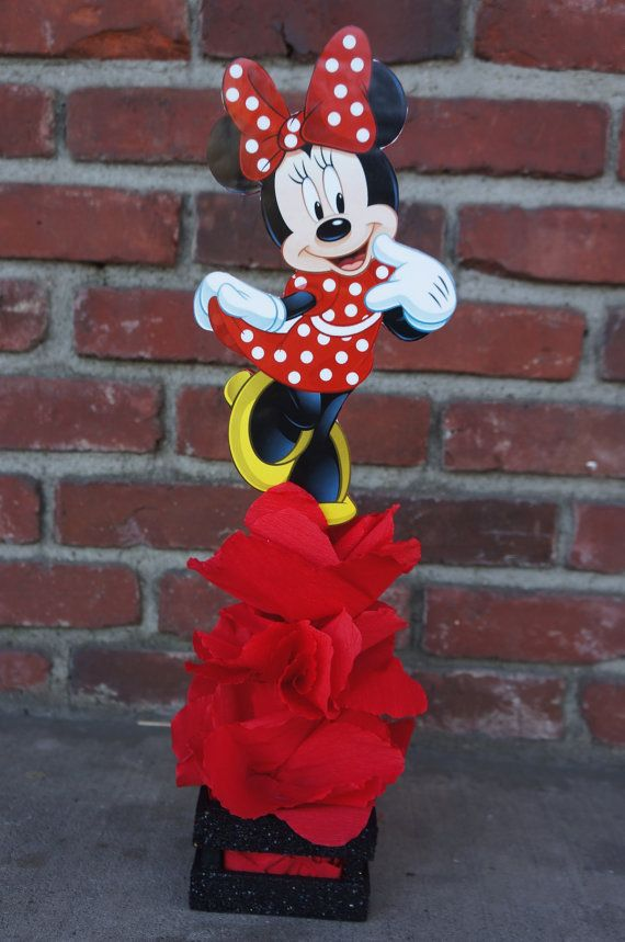 Traditional Red Minnie Mouse birthday Centerpiece Party favor Great for Candy Buffet Food Court Table Gift Table Centerpiece Mickey Mouse