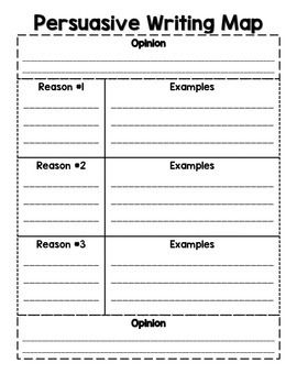 Teach persuasive writing with this handy graphic organizer.  Students can organize thoughts by using the OREO method (opinion, reasons & examples, opinion).