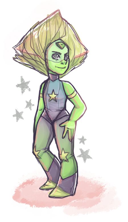 My design for Crystal Gem Peridot! I love her so much AHHH MY PERICHILD IS NOW A CRYSTAL GEM I'M STILL SCREAMING - by LavenderDreamer13 on tumblr http://lavenderdreamer13.tumblr.com/post/137693817795/im-a-little-late-to-the-party-but-come-on-i-had peridot su steven universe art crystal gem