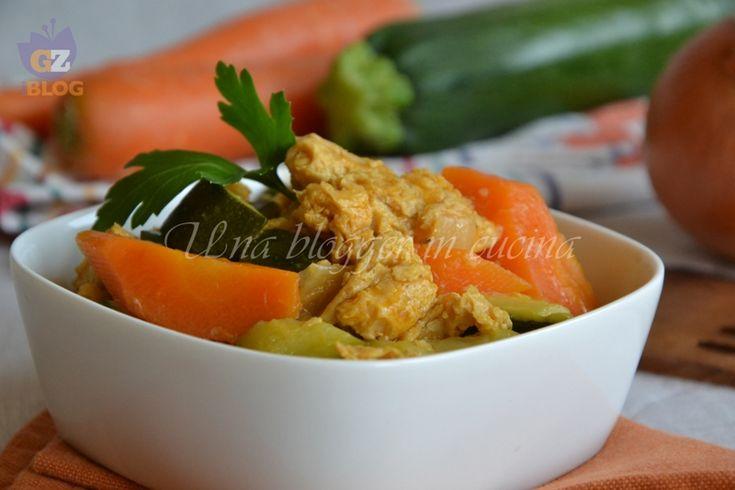 Spezzatino di soia con verdure, un secondo piatto vegetariano saporito e nutriente.