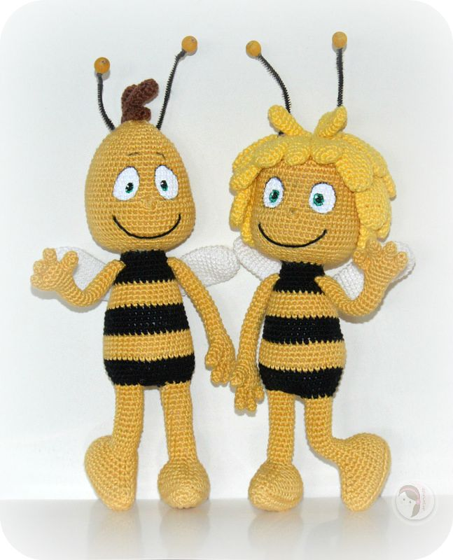 throwback into childhood. willy and maya the bee - free crochet pattern.