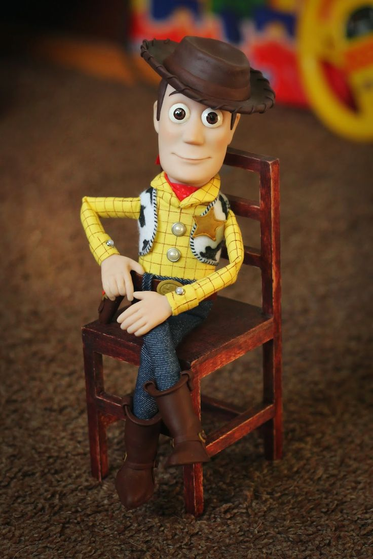 """Handmade toy """"Sheriff Woody"""".  """"Somebody's poisoned the waterhole!"""".  Height: 28 cm.  Materials:  living doll, plastic, cotton, wool, denim, suede, felt."""