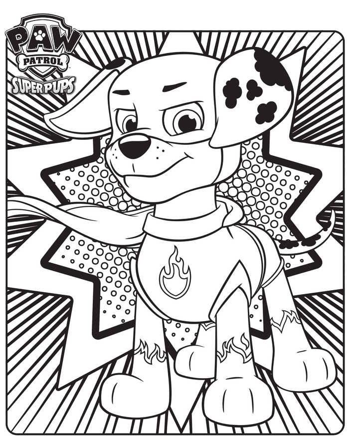Marshall The Super Pup Paw Patrol Coloring Page Paw Patrol Coloring Pages Paw Patrol Coloring Paw Patrol Super Pup