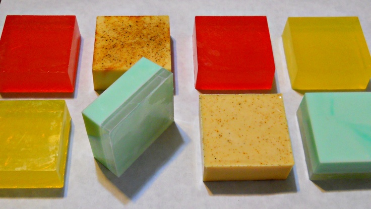"""My Newest Natural Glycerin, and Goat's Milk Soaps. """"Tea Tree, Frankincense, Red Apple, and Lemon verbena. My family and friends are fighting over them, LOL. You can make these too... it's so easy! Or you can get them from me: http://www.glorydaysnaturals.com/shop-products.html"""