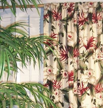 tropical+curtains | Tropical Curtains for Your Hawaiian Home