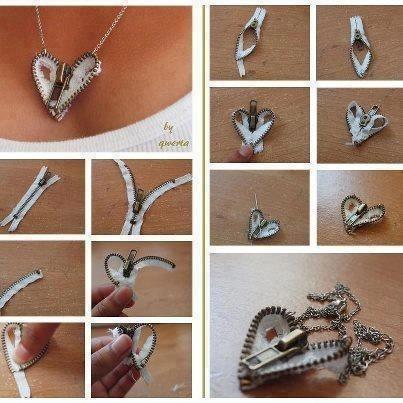Zipper necklace craft