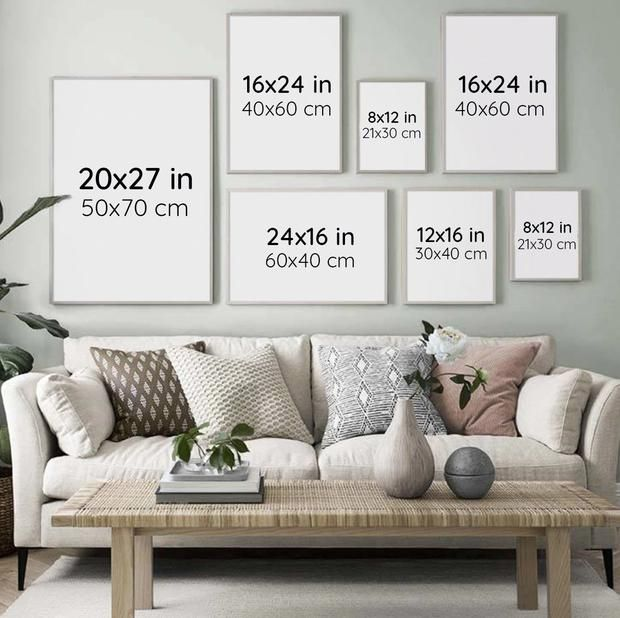Watercolor Plant Canvas Prints Gallery Wall Living Room Couch Decor Living Room Wall