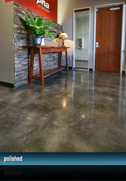 Love this stained concrete floor color for porch or patio
