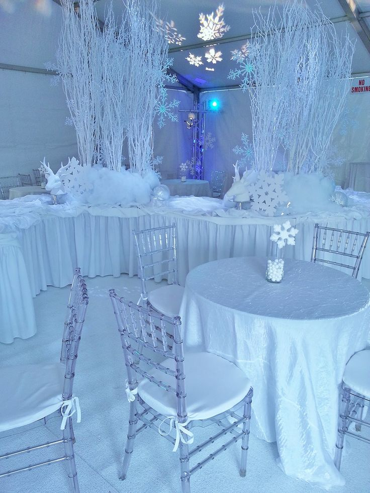 winter wonderland wedding table ideas%0A We created a winter white wonderland for a local jewelry store holiday open  house  We