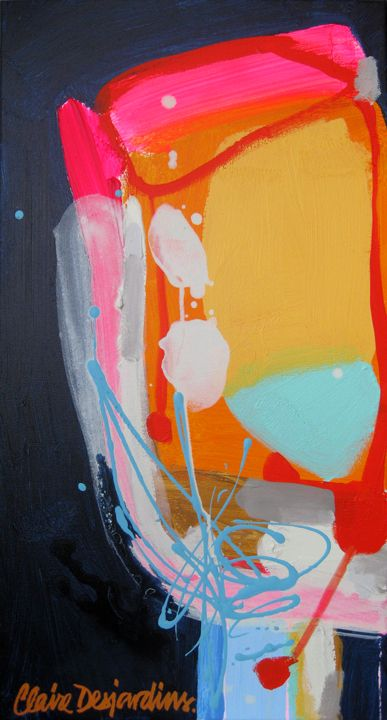 """""""Moment's Notice"""" by Claire Desjardins - 16""""x30"""" - Acrylics on canvas."""