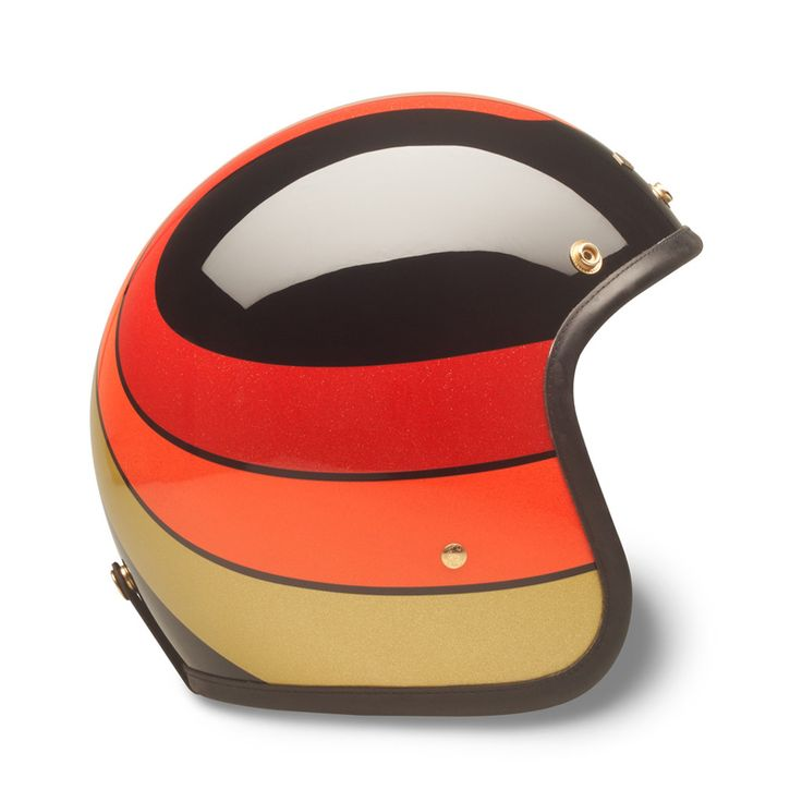 """If you haven't heard of Hedon before, that's okay—the English brand is a new name on the open-face helmet scene. And it's already providing stern competition for the likes of Davida.   Our favorite model is the £395 """"1971"""" limited edition, designed in conjunction with the cool cats from the French website 4h10.  Build quality is excellent: there's a composite carbon and fiberglass shell, the hardware is brass, and the paint is deep and glossy."""