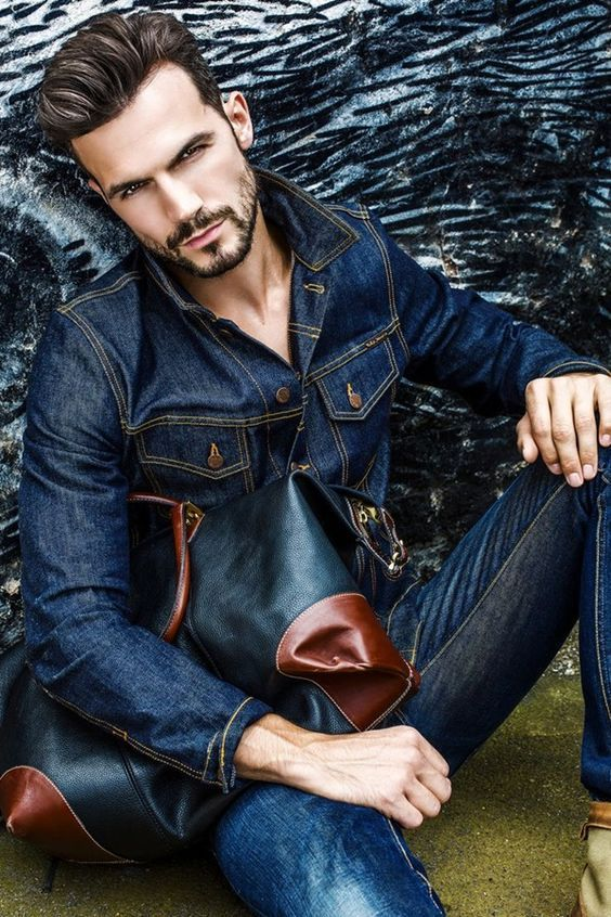 Stubble beard style for men with Denim on denim #beard  — Men's Fashion Blog - #TheUnstitchd