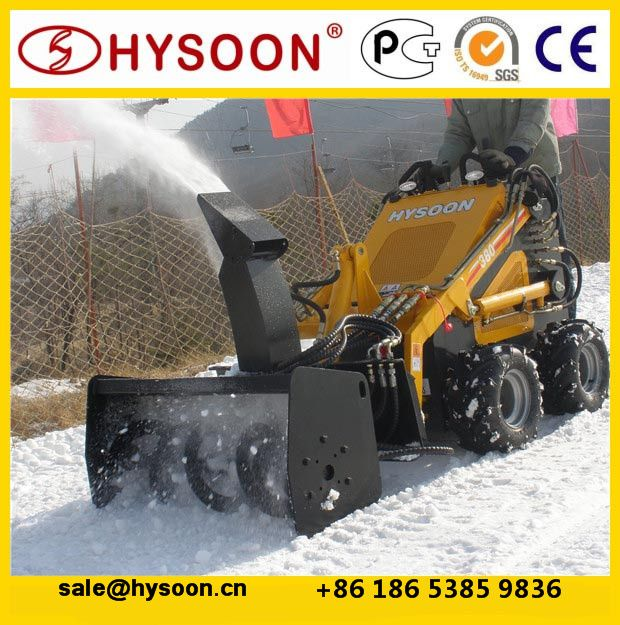 mini tractor loader electric snow shovel for compact utility loader