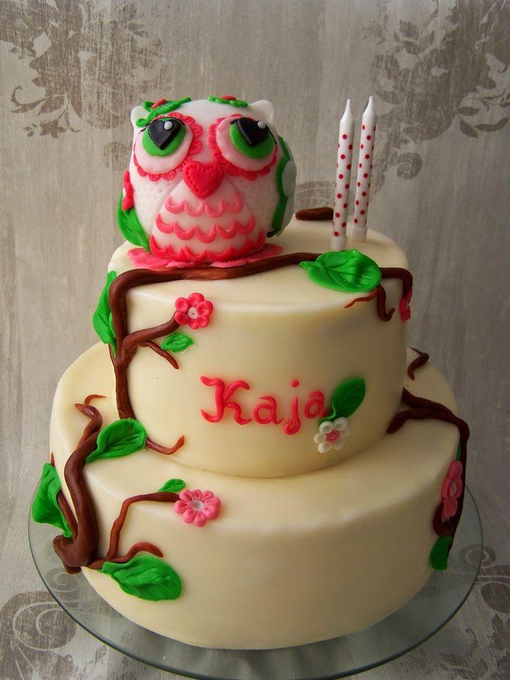 Lukrowane Ciastko: Wyjątkowy tort z Sówką. Owl cake.