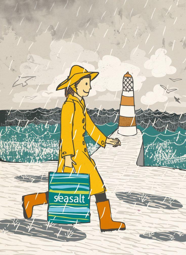 'YELLOW MAC RAIN' | Matt Johnson for Seasalt Cornwall: Illustration     ✫ღ⊰n