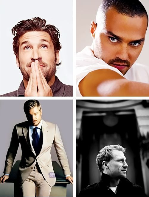 the men of grey's anatomy. Daaaayyyyuuuummmnnnn!!! Yummy!!!