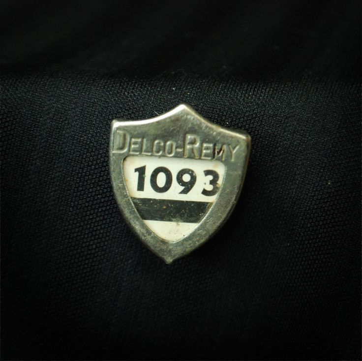 Delco Remy Metal Employee Security Badge #1093 - Anderson, IN - General Motors