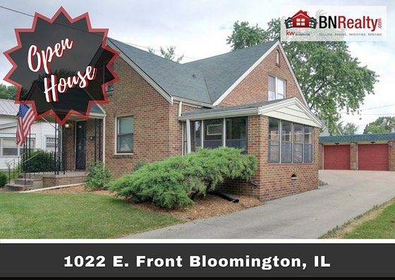 -->> OPEN HOUSES <<-- When: Saturday, July 1 from 12:00 pm to 2:00 pm and Sunday, July 2 from 12:00 pm to 2:00 pm Where: 1022 E. Front St. Bloomington, IL 3 Bedrooms / 1.5 Bath *Features: Two story, 3 bedroom, 1.5 bath, all-brick home in East Bloomington. The home has a screened sunroom and a huge walk-in master closet. 2017 upgraded to central air, mature/ freshened landscape, and new back door handrails. 2016 new garage roof. 2015 new oversized gutters and buried downspouts as well as wood…