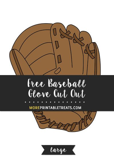 free baseball glove cut out large baseball printables