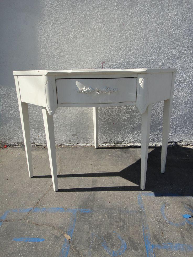 Reserve Michele Shabby Chic Corner Desk Or Vanity White Los Angeles Shabb