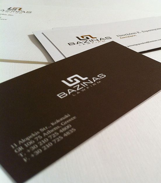 bazinas law firm business card i like the brown background i