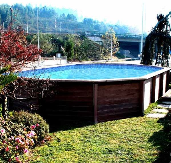 48 best Piscine images on Pinterest Swimming pools, Small swimming - piscine hors sol beton aspect bois