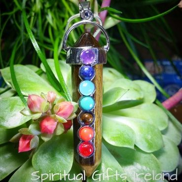 Visit our store at www.spiritualgiftsireland.com  Follow Spiritual Gifts Ireland on www.facebook.com/spiritualgiftsireland www.instagram.com/spiritualgiftsireland www.etsy.com/shop/spiritualgiftireland We are also featured on Tumblr  These stunning chakra wand pendants are called after Abigail, a woman known biblically for her inner strength and courage as she protected her family from an impending battle.  Her actions were taken from a place of generosity and truth for which she was greatly…