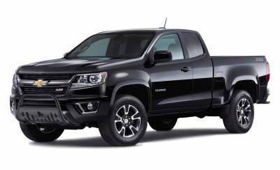 Bull Bar BB030709A-SP - Black with Black Skid Plate | Chevy Colorado & GMC Canyon 2015-2017 - See more at: www.blackhorseoffroad.com   www.fadiajam.com