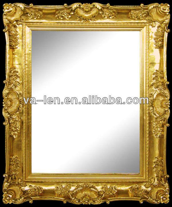 Marcos de espejos antiguos tallados marco identificaci n for Cuadros decorativos clasicos