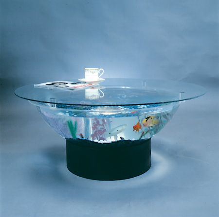 Aquarium coffee table - made in the USA! When my kids are older, I want one!